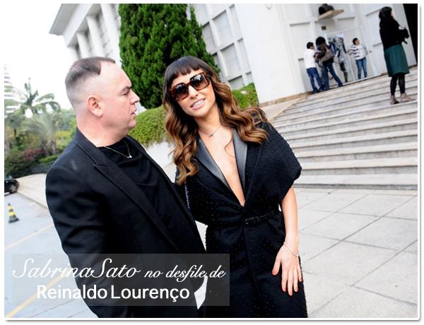 c24bacee6e787 Sabrina Sato no desfile do Reinaldo Lourenço