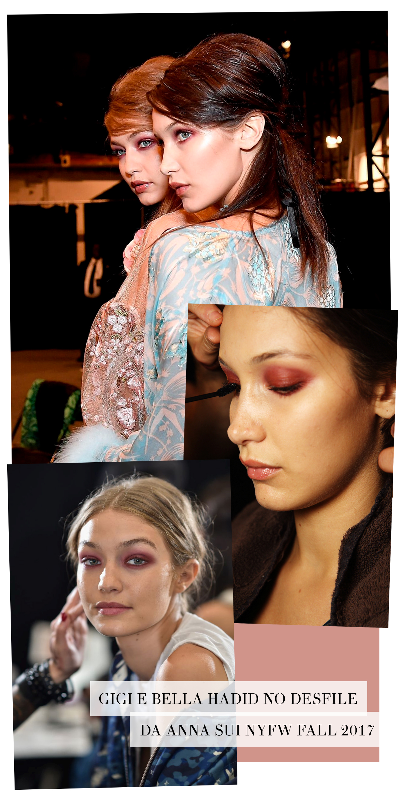 gigi bella hadid red eyeshadow